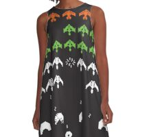 Star Trek (TNG) Space Invaders - Poster & stickers A-Line Dress