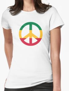 Reggae peace flag Womens Fitted T-Shirt