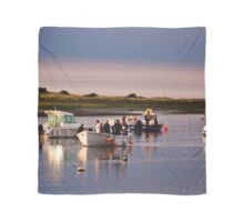 Boats Trippers Returning Home - British Coast And Beach  Scarf
