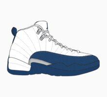 "Air Jordan XII (12) ""French  Blue"" Baby Tee"