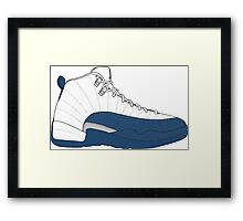 "Air Jordan XII (12) ""French  Blue"" Framed Print"