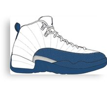 "Air Jordan XII (12) ""French  Blue"" Canvas Print"