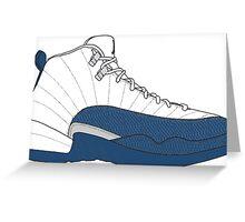 "Air Jordan XII (12) ""French  Blue"" Greeting Card"