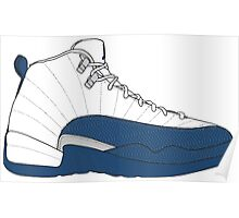 "Air Jordan XII (12) ""French  Blue"" Poster"