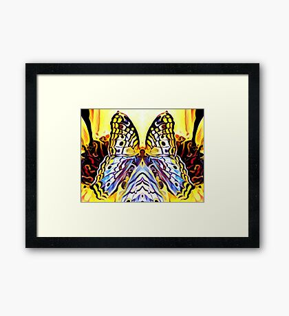 Butterfly cape Framed Print