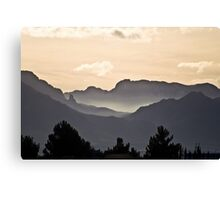 The Far Hills and Valleys Canvas Print