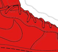 "Nike Air Force One Mid/High ""All Red"" Sticker"
