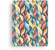 colorful autumn leaves pattern  Canvas Print