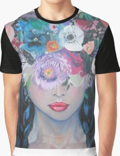 Her Thoughts Burst and Bloomed Graphic T-Shirt