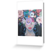 Her Thoughts Burst and Bloomed Greeting Card