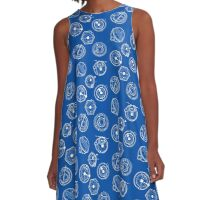 Gallifreyan Mix 2 A-Line Dress