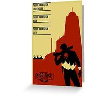 Bioshock Infinite constants poster Greeting Card