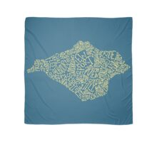 Mellow Yellow Isle of Wight map Scarf