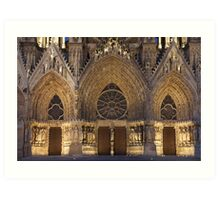Cathedral of Reims Art Print