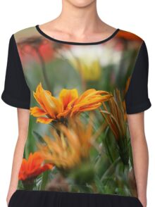 Fiery flowers Chiffon Top