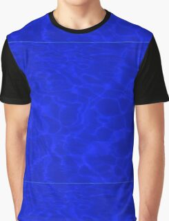 Pool Water - Blue Graphic T-Shirt