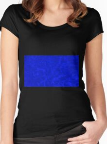 Pool Water - Blue Women's Fitted Scoop T-Shirt