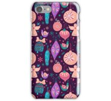 Christmas Baubles Seamless Pattern iPhone Case/Skin