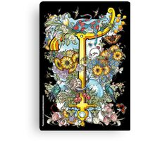 The Illustrated Alphabet Capital T (Fuller Bodied) Canvas Print