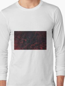 Pool Water - Red Long Sleeve T-Shirt