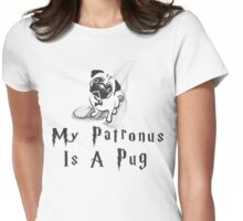 Pug Patronus Womens Fitted T-Shirt