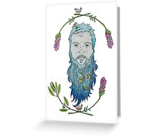Beard Birds Greeting Card
