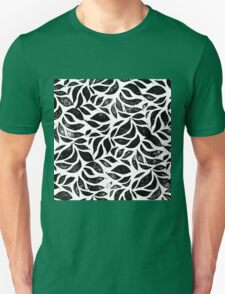 A sea of leaves - Nature inspired linocut print Unisex T-Shirt