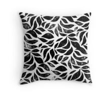 A sea of leaves - Nature inspired linocut print Throw Pillow
