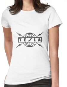 tesla logo Womens Fitted T-Shirt