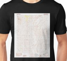 USGS TOPO Map Arizona AZ Red Pockets 313067 1985 24000 Unisex T-Shirt