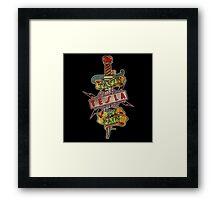 tesla band Framed Print