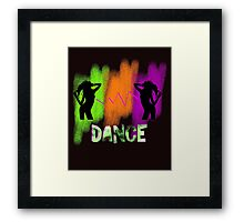 Funky Colorful Modern Pop Art Dance Theme Framed Print