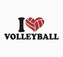 I love Volleyball heart One Piece - Short Sleeve