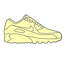 Yellow Nike Air Max Photographic Print