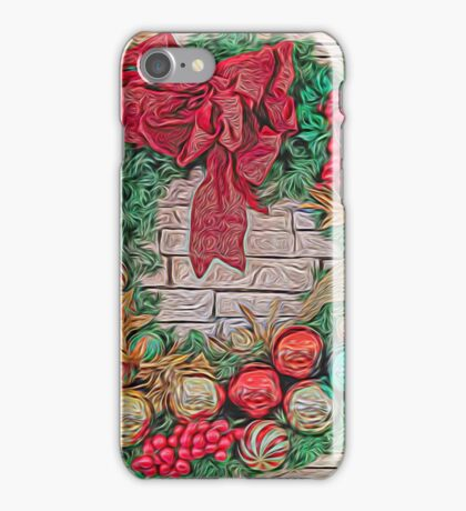 Dreamy Holiday Wreath iPhone Case/Skin