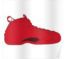 "Nike Air Foamposite One ""All Red"" Poster"