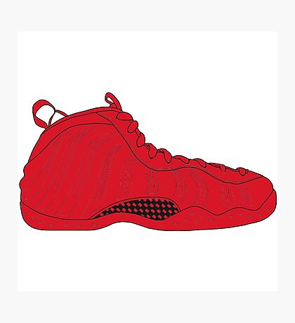 "Nike Air Foamposite One ""All Red"" Photographic Print"