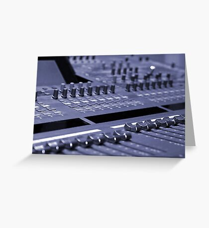 Mixing Console Greeting Card