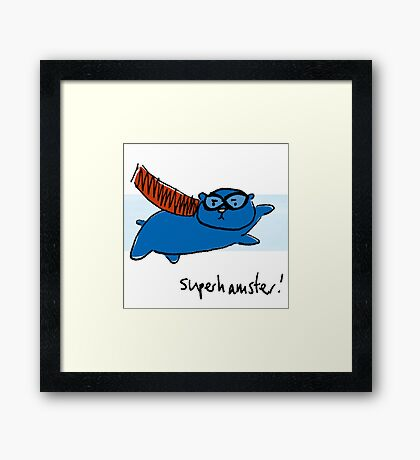 Super Hamster Framed Print