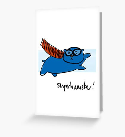Super Hamster Greeting Card