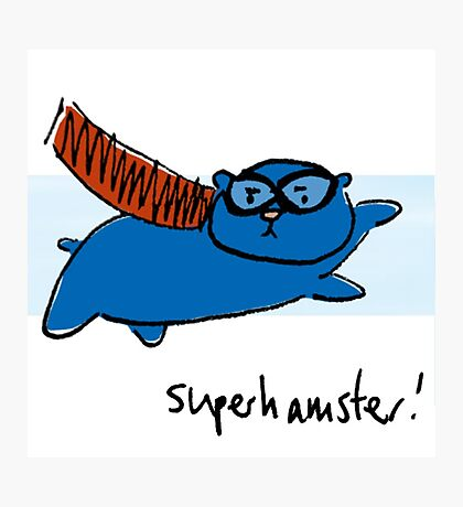 Super Hamster Photographic Print