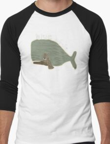 blue whale Men's Baseball ¾ T-Shirt
