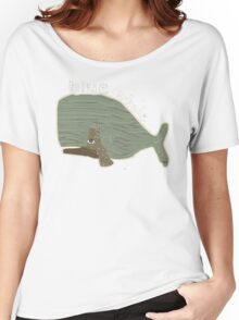 blue whale Women's Relaxed Fit T-Shirt