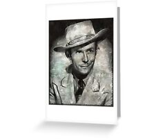 Hank Williams by MB Greeting Card
