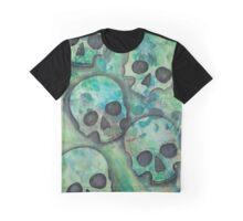 Misty Skulls Graphic T-Shirt