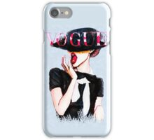 Vogue Girl Painting iPhone Case/Skin