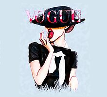Vogue Girl Painting by rbx11