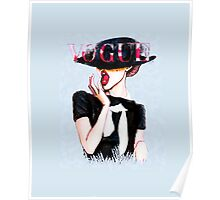 Vogue Girl Painting Poster