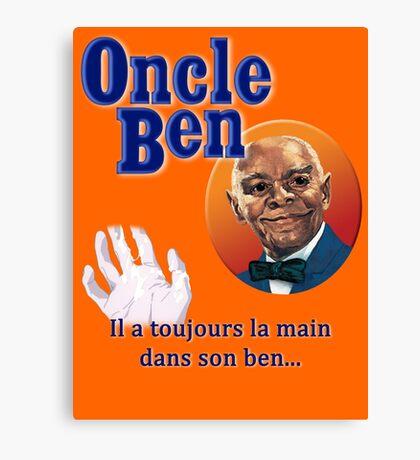 Oncle Ben (Uncle Ben's Parody) Canvas Print