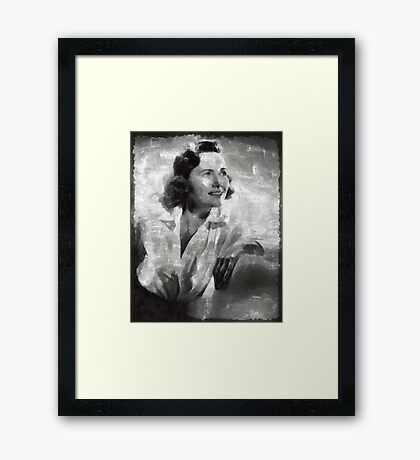 Teresa Wright Hollywood Actress Framed Print